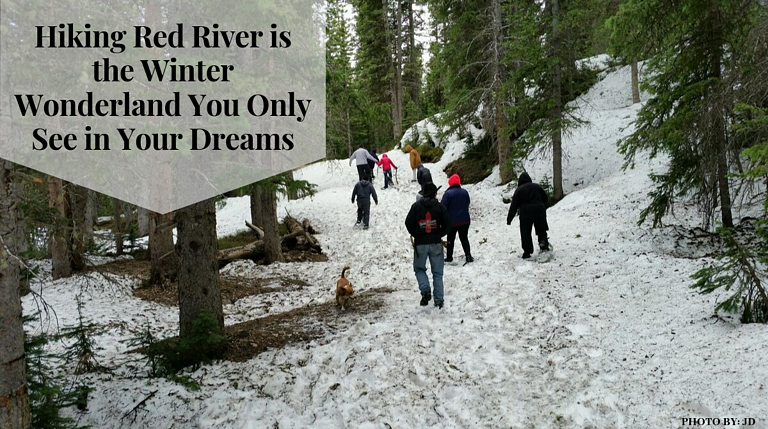 Hiking Red River is the Winter Wonderland You Only See in Your Dreams