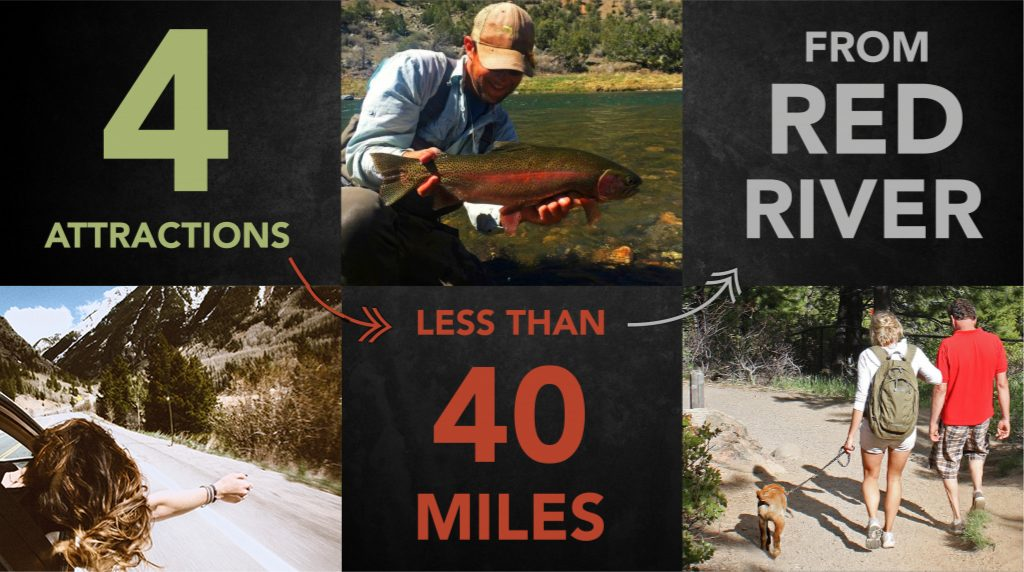 4 Attractions Less than 40 Miles from Red River