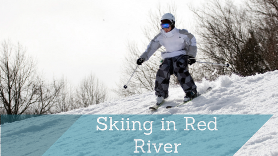 Person skiing in Red River